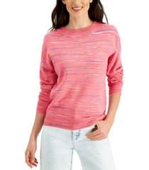 style & co space-dyed sweater, created for macy's