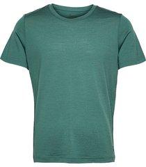oslo wool tee t-shirts short-sleeved grön bergans
