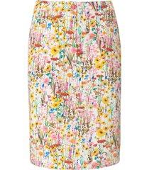 rok in smal five-pocketsmodel bloemenprint van peter hahn multicolour