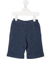 familiar casual jersey shorts - blue