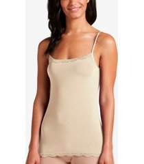 jockey no panty line promise lace trim camisole 1385, also available in extended sizes