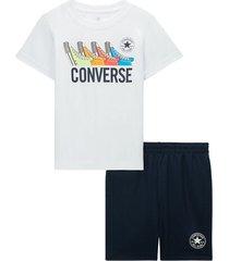 multi sneaker t-shirt en shorts kleuterset