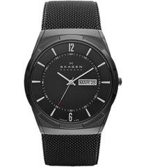 skagen men's melbye black titanium mesh bracelet watch 40mm skw6006