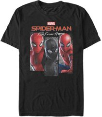 marvel men's spider-man far from home web panel, short sleeve t-shirt