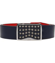 christian louboutin louis belt 35 belts in blue leather