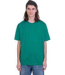 acne studios evert t-shirt in green cotton