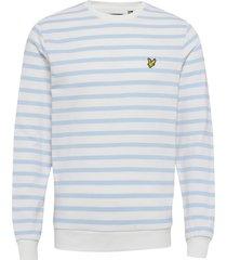 breton stripe sweatshirt sweat-shirt tröja blå lyle & scott