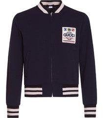 gucci wool jersey varsity jacket
