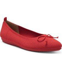 vince camuto women's flanna washable knit bow-tie flats women's shoes