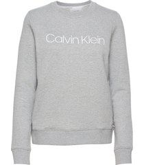 core logo ls sweatshirt sweat-shirt tröja grå calvin klein