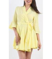 vestido marilyn cruzado amarillo night concept