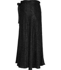 long jacquard wrap skirt lång kjol svart designers, remix