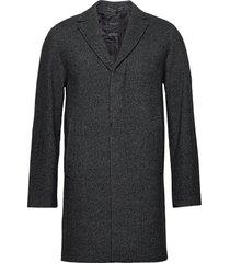 slhhagen wool coat b yllerock rock grå selected homme