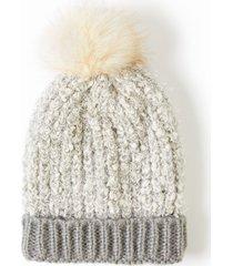 lane bryant women's faux-fur pom pom hat onesz blush