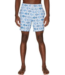 fish-print swim shorts