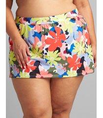lane bryant women's eco-friendly slitted swim skirt 12 pop floral