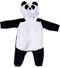 macacã£o pijama panda preto e branco multicolorido - multicolorido - dafiti