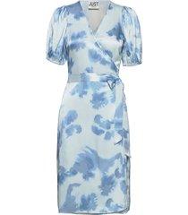 laguni wrap dress dresses everyday dresses blå just female