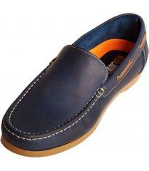 zapato mocasin san polos 2010 azul