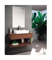 bancada para banheiro suspensa com cuba cinamomo lilies