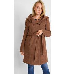 korte coat met wol