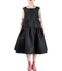 pocket vest dress