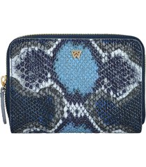 women's kelly wynne money maker leather zip wallet - blue