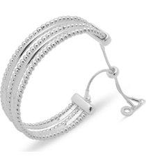 anne klein silver-tone multi-row slider bracelet