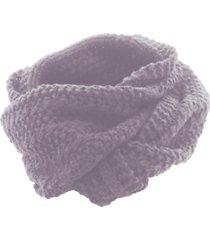 bufanda chunk knit infinity scarf violeta cat