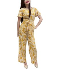 ny collection petite printed jumpsuit