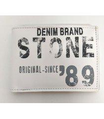 billetera blanca stone