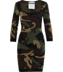 moschino military army dress