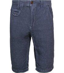 linen longline shorts
