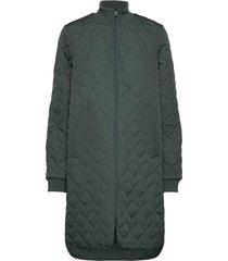 coat doorgestikte jas groen ilse jacobsen