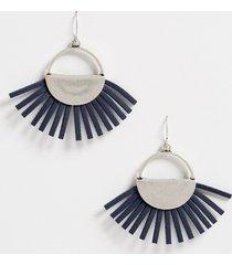 maurices womens faux leather fan drop earrings