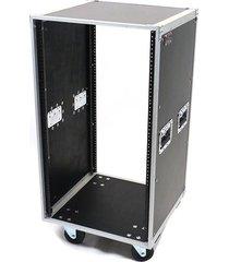 osp 20 space ata-style amp / effects studio rack case w/caster wheels - 20u