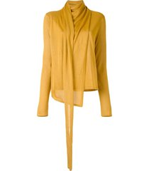lapointe scarf neck jumper - gold