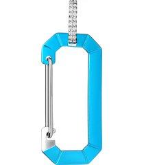 chiara big earring, metallic blue