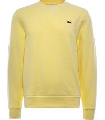 lacoste sport cotton blend fleece sweatshirt | jaune | sh1505-2y1