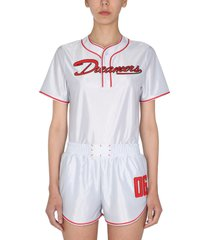 mcq alexander mcqueen baseball t-shirt