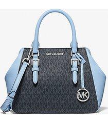 mk borsa a mano charlotte media  - celeste chiaro (blu) - michael kors