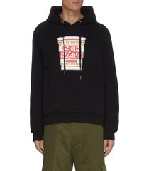 'hot pasta' pixelated 3d graphic cotton hoodie