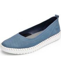 zapato mujer mei azul flexi