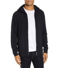 men's theory essential zip hoodie, size xx-large - blue