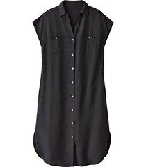 blousejurk van tencel™, schwarz 46