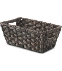 whitmor split rattique storage tote, set of 6