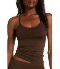 women's nordstrom bare scoop front camisole, size xx-large - brown