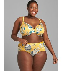 lane bryant women's invisible backsmoother lightly lined full coverage bra 40ddd artisan gold floral