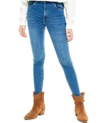 high waist skinny jeans tono medio (se recomienda comprar una talla más a la habitual) color blue