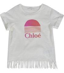 chloé frayed hem t-shirt